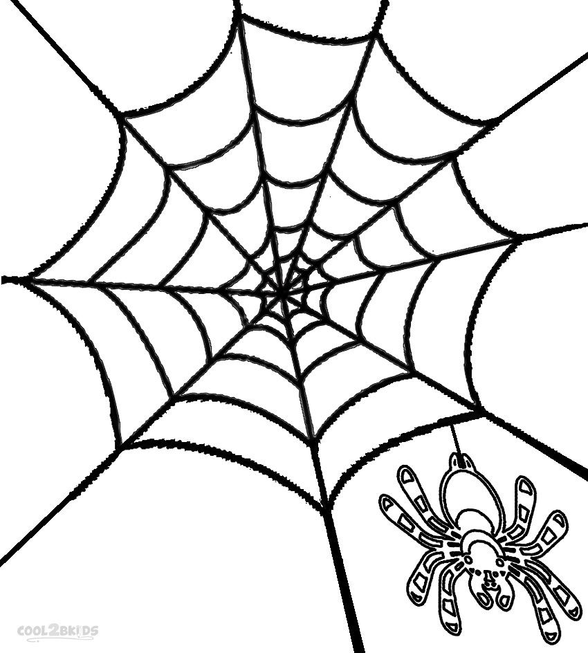 Printable Spider Web Coloring Pages For Kids Cool2bkids Coloring Pages For Kids Coloring Pages Free Halloween Coloring Pages