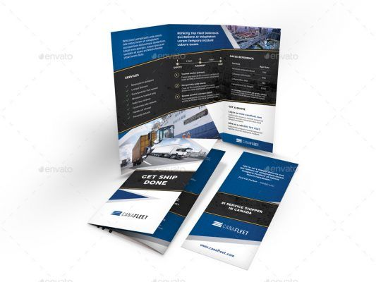 Contoh Company Profile Perusahaan Transportasi Brosur Lipat Tiga Transportasi Desain Grafis