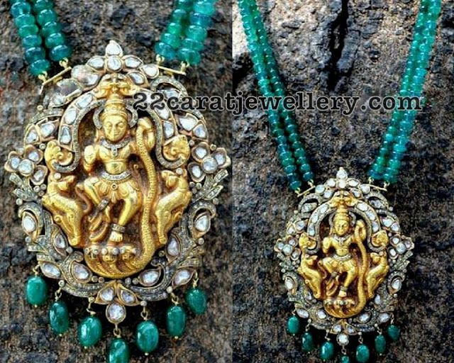 Victorian style pendant with emerald beads emeralds victorian victorian style pendant with emerald beads aloadofball Choice Image