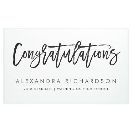 handwritten congratulations graduate banner