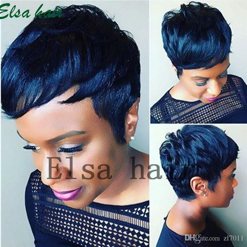Straight Short Human Hair Wigs For Black Women Brazilian Pixie Human Hair Lace Wigs Full Lace Hair Wigs With Bangs Lace Fronts Wholesale Wigs From Varietyqueenh Short Human Hair Wigs Short