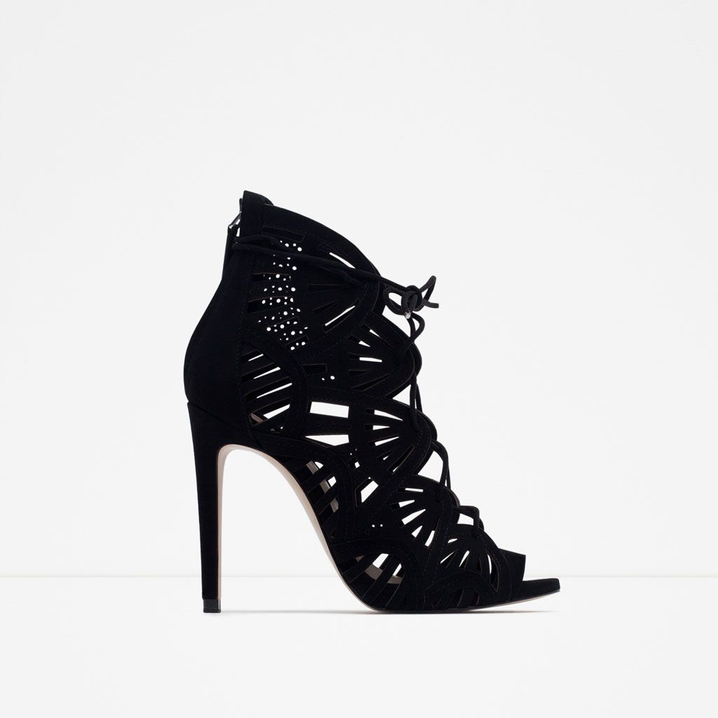 charme de coût chaussures de sport quantité limitée Sandales à talons hauts noires by Zara parce que même si j ...