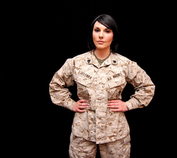 Christel Zelenka, 20, serving as a reserve in the Marine Corps for ...