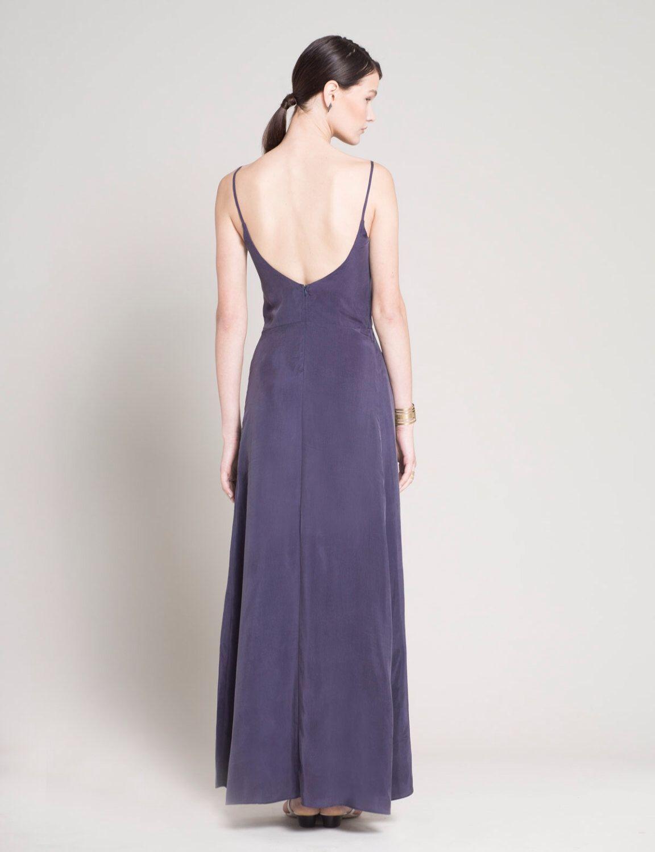 Bridesmaid dress smoked purple evening dress wedding guest dress