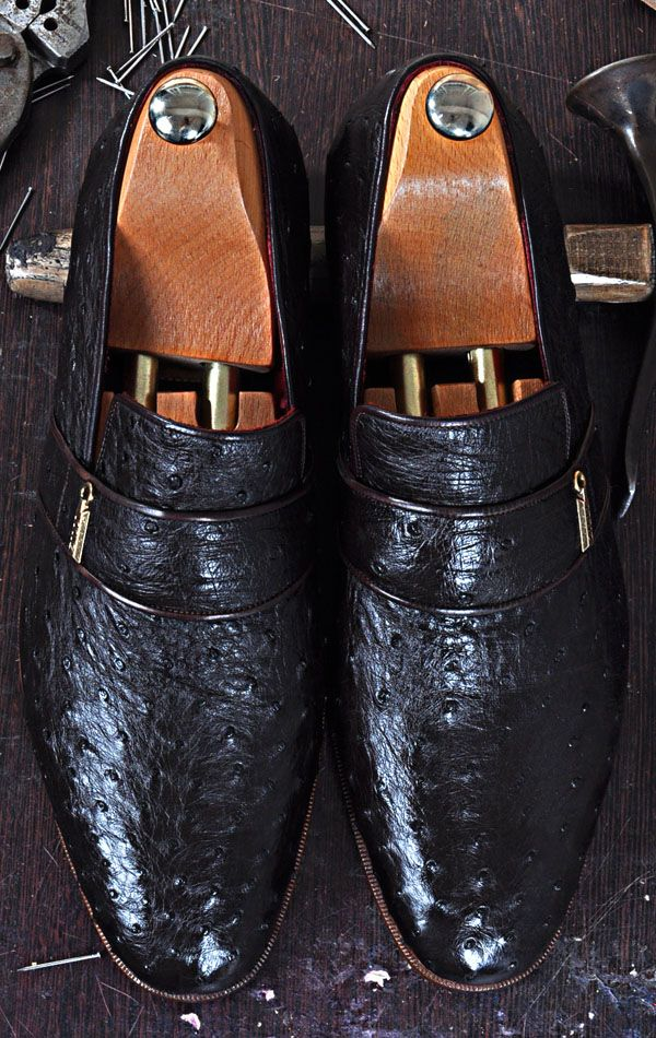 3951f875ab7 Mens Luxury Shoes   TucciPolo Dace Moccasin Genuine Ostrich Leather Mens  Luxury Handmade Shoe