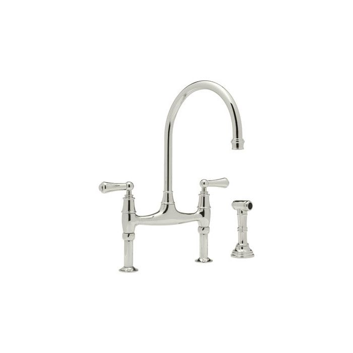 Rohl Perrin and Rowe Deck Mount Two Handle Widespread Kitchen Faucet & Reviews | Wayfair