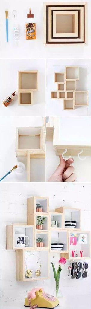 DIY repisa cuadrada departamento pequeno