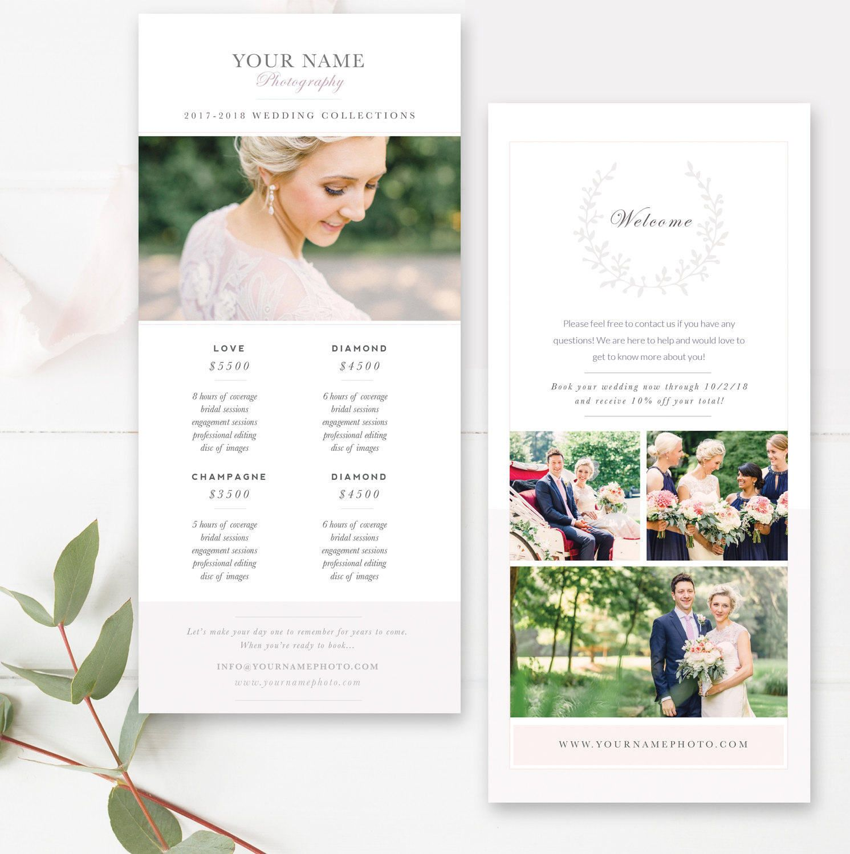Wedding Photography Marketing Card Template Promo Card Postcard Template 4x8 Wedding Photography Marketing Photoshop Template Design Photography Marketing