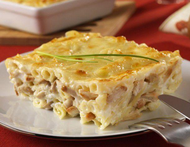 La recette du gratin de p tes kiri poulet miam miam pinterest pasta food and cuisine - Gratin de pates poulet ...