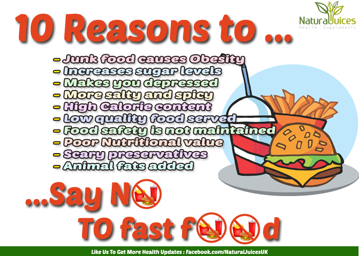 Reasons Why Fast Food Is Bad For Your Health