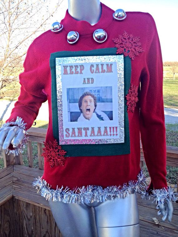 Will Ferrell Elf Ugly Christmas Sweater Holiday Ideas Christmas