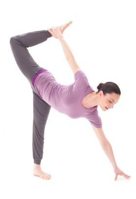 Bamboo Short Sleeve T In Heather Yoga And Pilates Clothes From