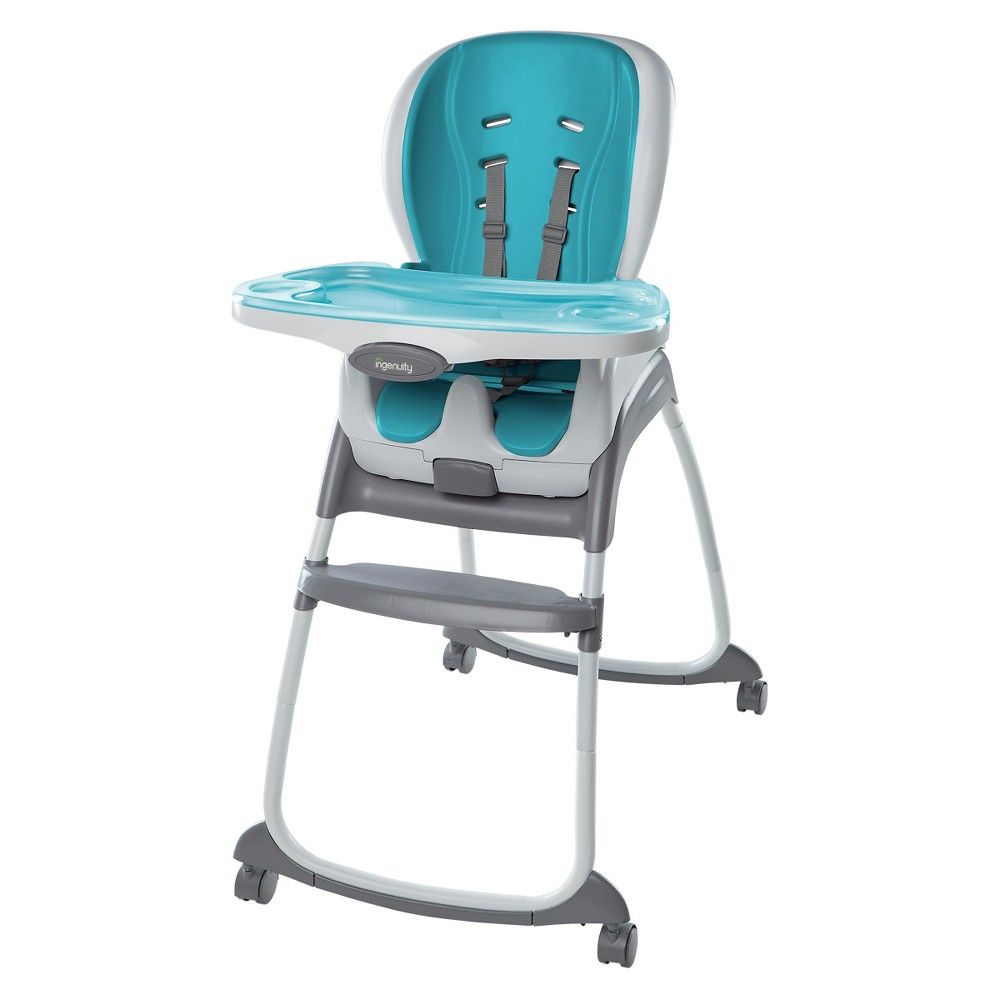 Awe Inspiring Ingenuity Trio 3 In 1 Smartclean High Chair Aqua Blue Andrewgaddart Wooden Chair Designs For Living Room Andrewgaddartcom