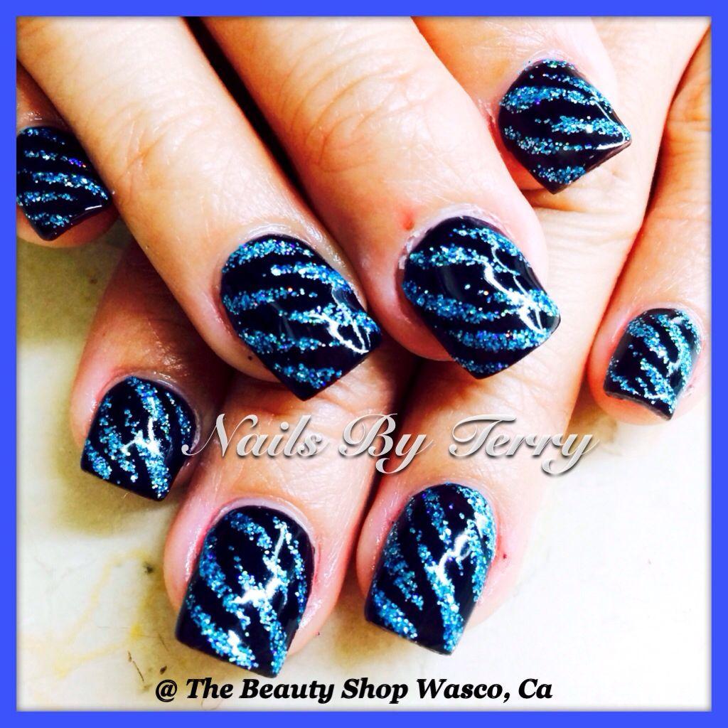 zebra print gel nails animal