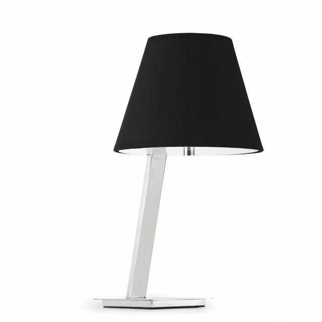 Lámpara de Mesa negra con pantalla #lamparas #iluminacion ...