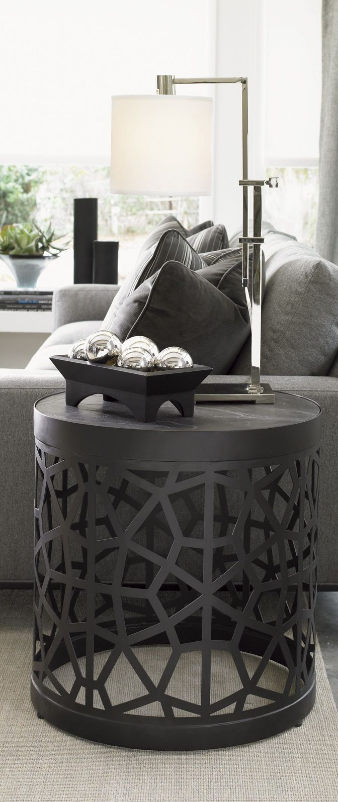 Furniture Living Room Tables Accent Tables Gray