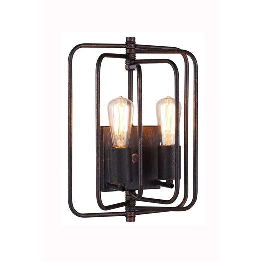 Elegant Lighting Lewis 2 Light Wall Sconce | AllModern