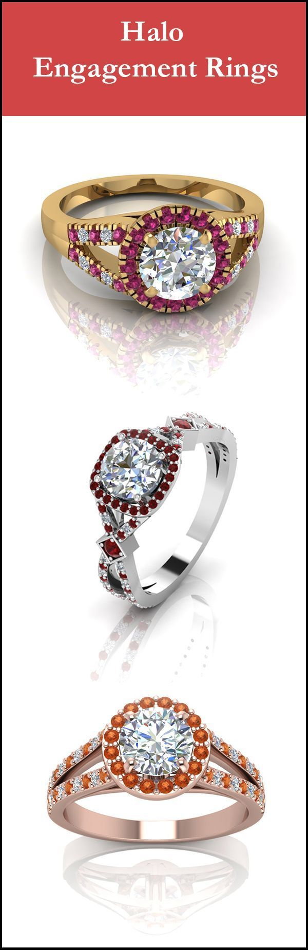 If you think these are beautiful halo engagement rings , wait till you see the others #halorings
