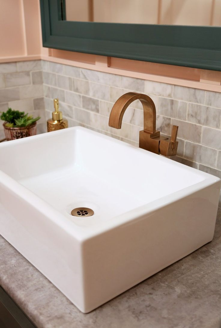Restaurant Bathroom Makeover   Vessel sink, Sinks and Decorative objects