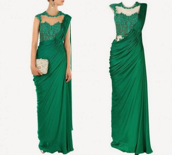 New Look Fashion Saree Gown Latest Style Dress For S By Designer Sonaakshi Raaj