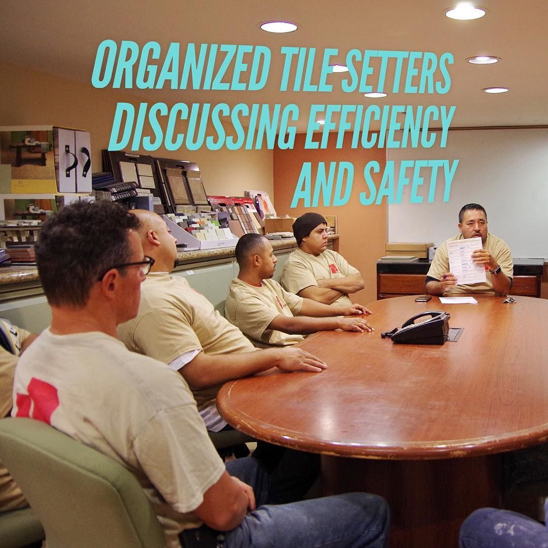 Tile setters organize weekly to go over efficiency safety and other noteworthy topics.  Find us online at tileplus.net #tile #tiled #tiles #tileaddiction #tilework #tilesetter #sanjose #408 #siliconvalley #familybusiness #interiordesign #interiorstyling #interiordesignideas #interiorphotography #interiorinspiration #luxurylifestyle #luxuryhomes #luxuryliving #luxurydesign #luxuryinteriors #moderndesign #modernhome #instahomes #newhome #homesweethome by tileplus