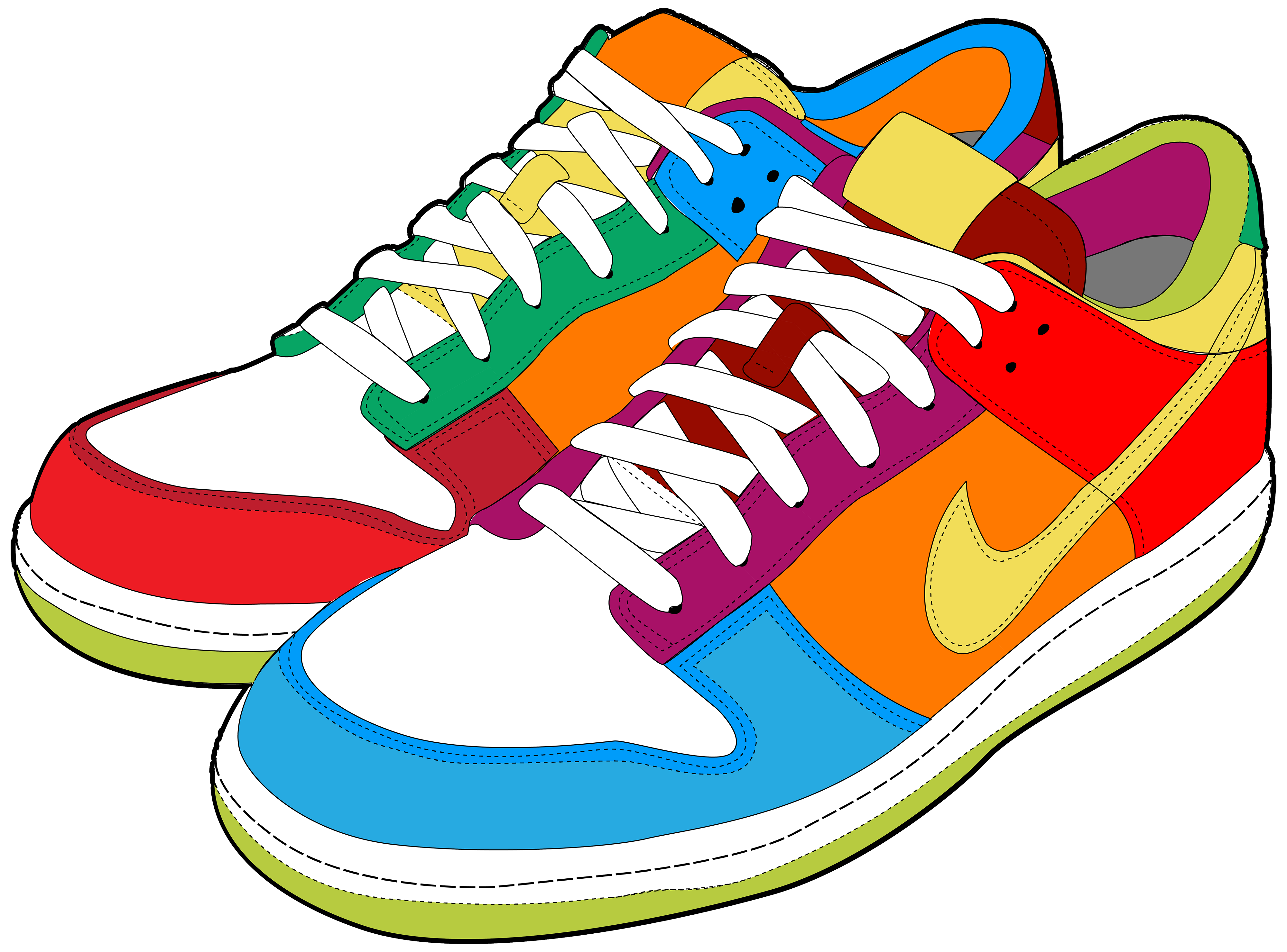 Colorful Sneakers Png Clipart Chaussure Enfant Veste Chaussure