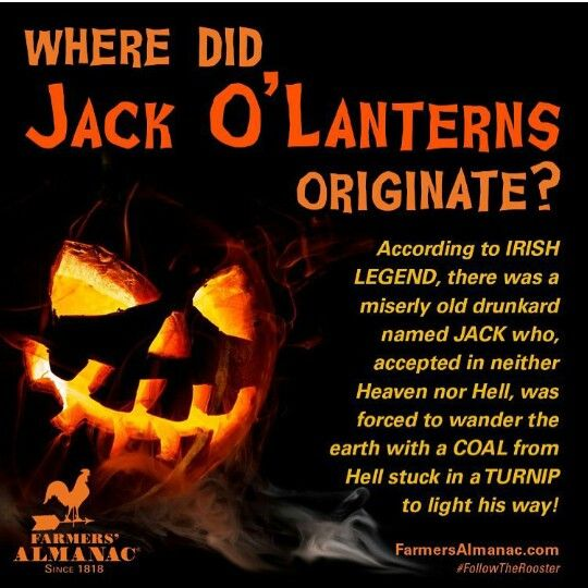 Where Did Jack O'Lanterns Originate? | HALLOWEEN ISMS | Pinterest