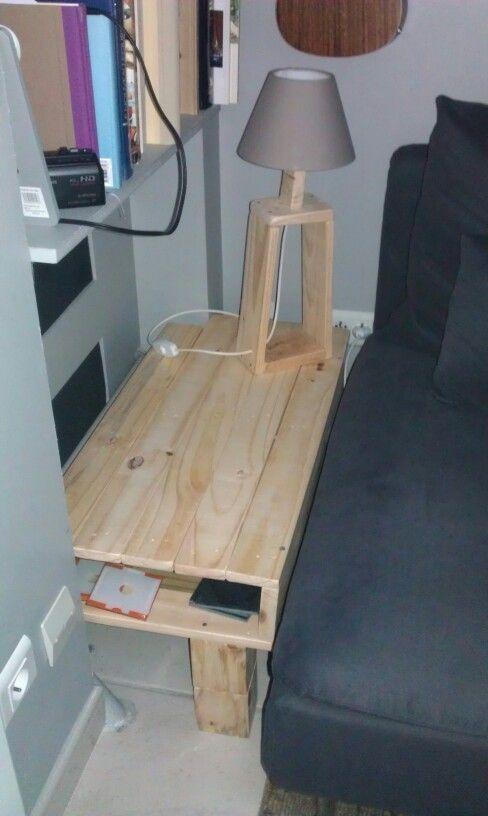 Étagère basse et lampe, DIY bois de récupération palettes. Par ...