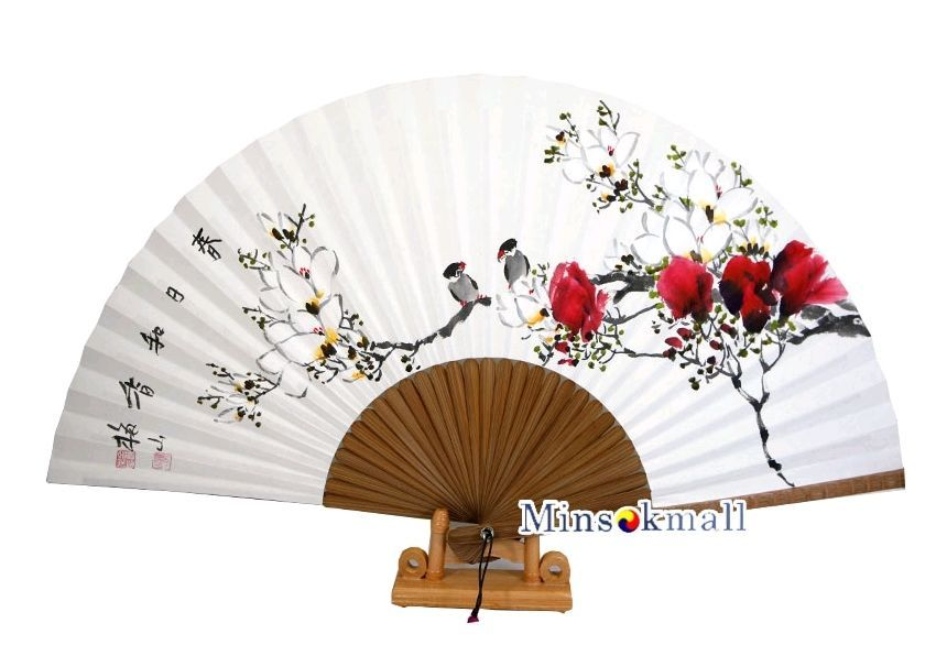 korean traditional hanji fan folding fan asian fan handheld fan