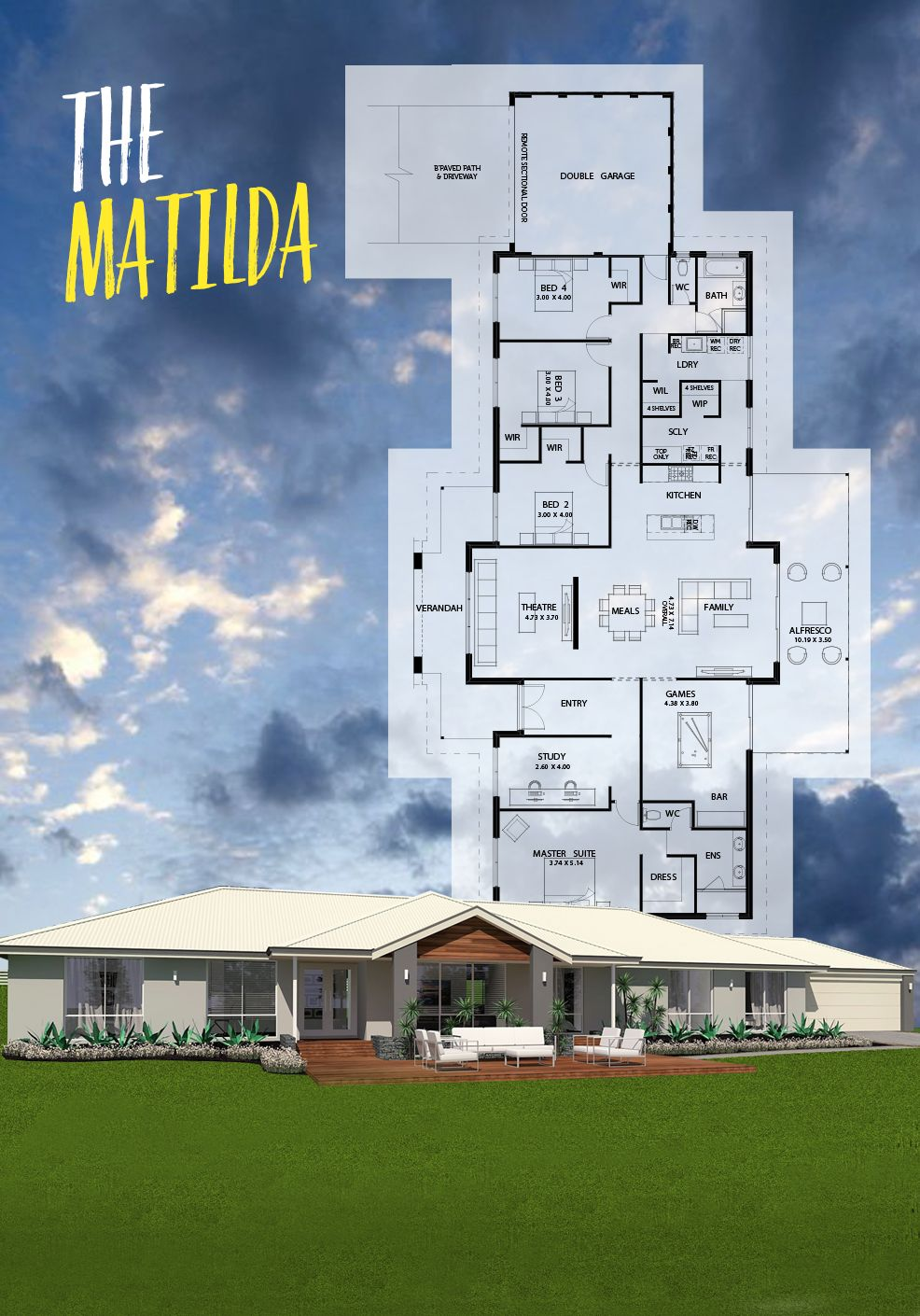 We Like To Do Things Differently Smart Er And Or First Country Design The Matilda Does Just That It S R My House Plans House Blueprints House Floor Plans