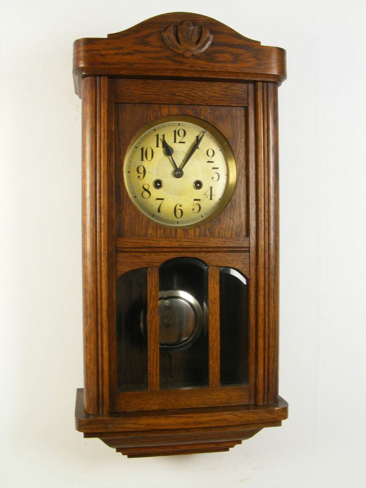 Antique German MAUTHE Wall Clock 1910-1930 (Junghans ...