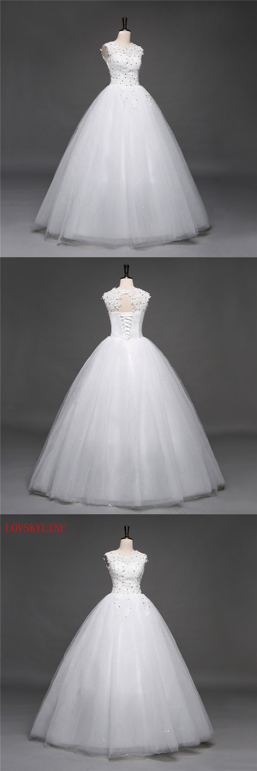 Lovskyline korean lace up ball gown top quality wedding dresses
