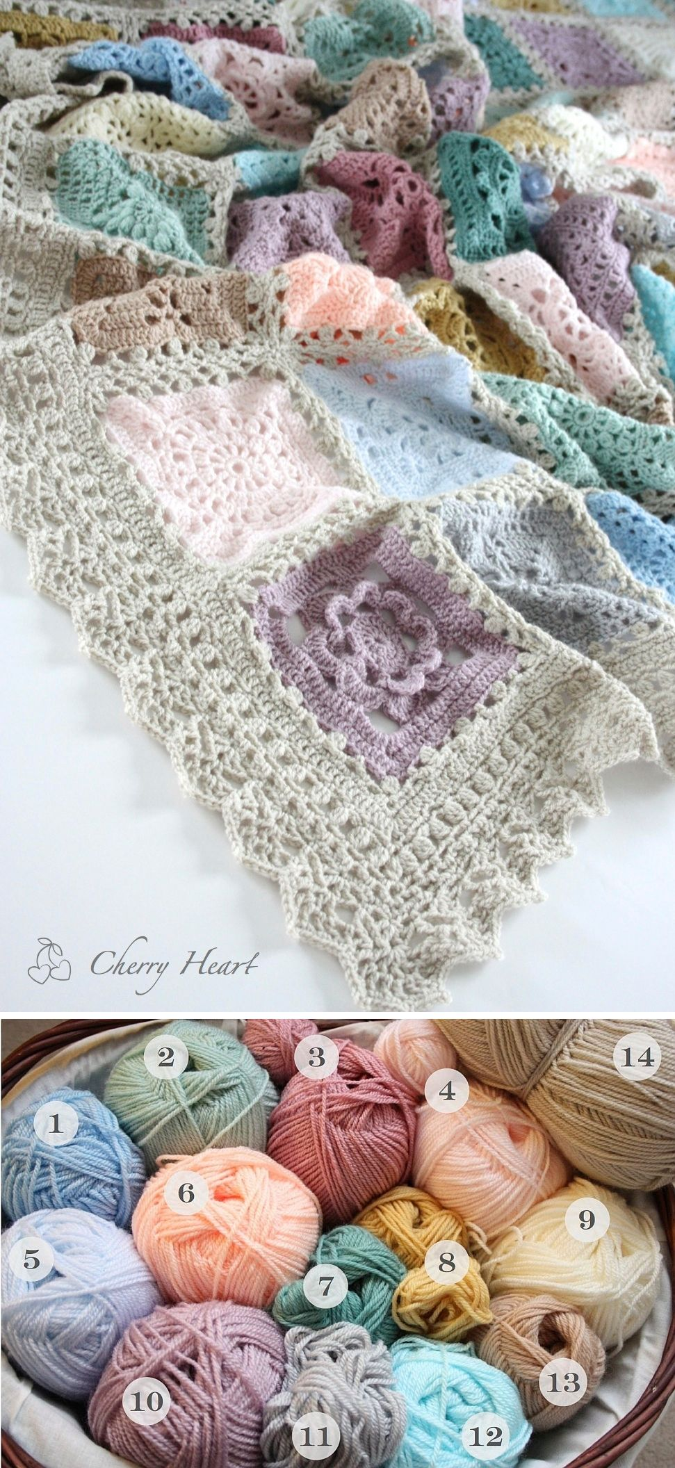 Color Inspiration :: Lacy Sampler, crocheted by Sandra Paul. Mostly ...