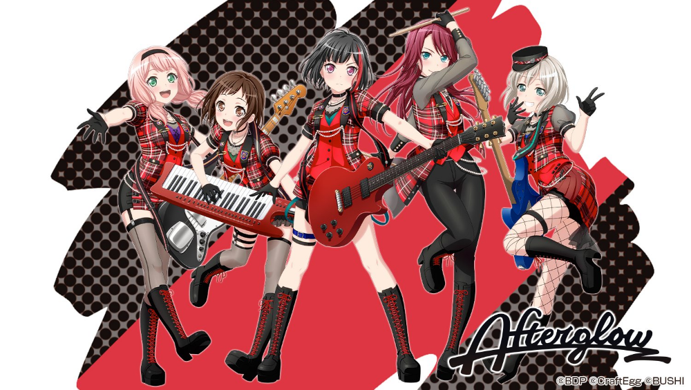 Afterglow 2881295 Fullsize Image 1500x847 Zerochan Girl Bands Anime Images Anime