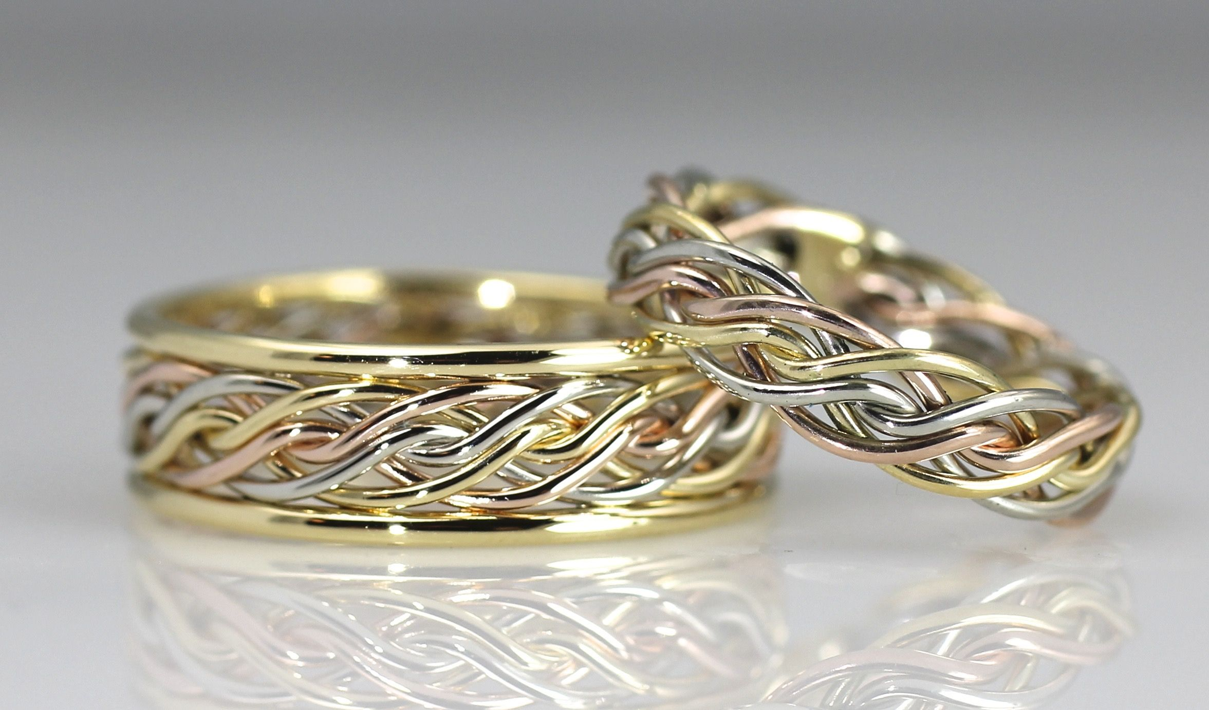 Braided Unique Wedding Rings Handmade By Artist Todd Alan Braided Wedding Rings Celtic Wedding Rings Wedding Rings Solitaire
