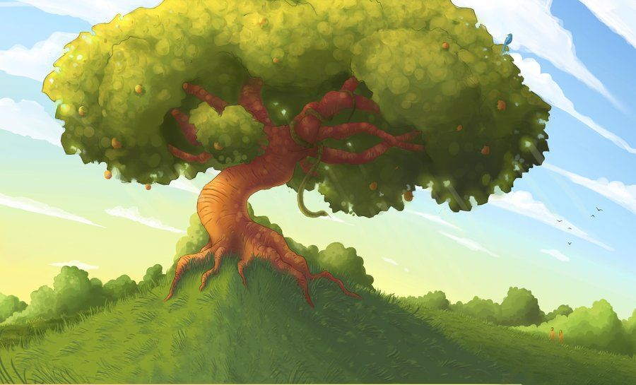 The Tree Of Knowledge By Nuclearmango On Deviantart Landscape Background Background Clipart Tree