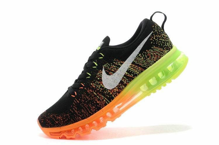 2018 Newest Men Nike Air Max Flyknit Black Multicolor Hot Lava Electric  620469 018 81f911da87