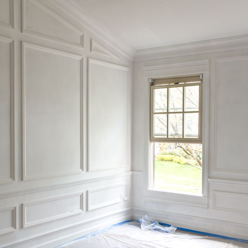 Five Moulding Tricks To Give Height To Your Ceilings Moulding Hack Moulding Ideas Moulding Tutorial Wall Molding Living Room Millwork Wall Moldings And Trim