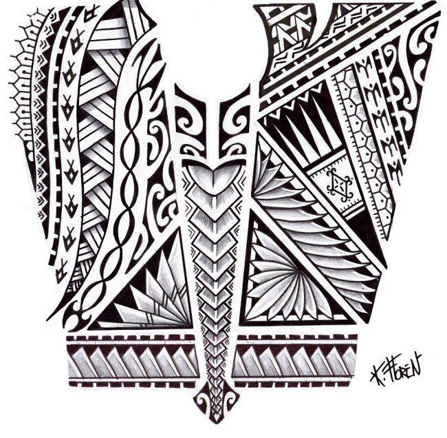 Dessin De Tatouage Maori Aux Bandes De Symboles Art Polynesien Tatoo