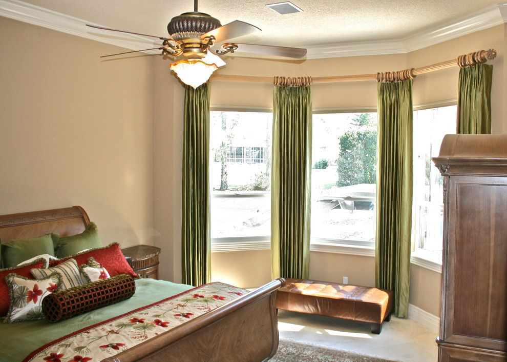Tropical Window Treatments Es Transitional With 3 Wood Rod 80108 Home And Living Ideas