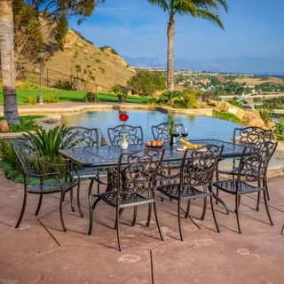 Shop for Christopher Knight Home Outdoor Delray Cast Aluminum Adjustable Dining…