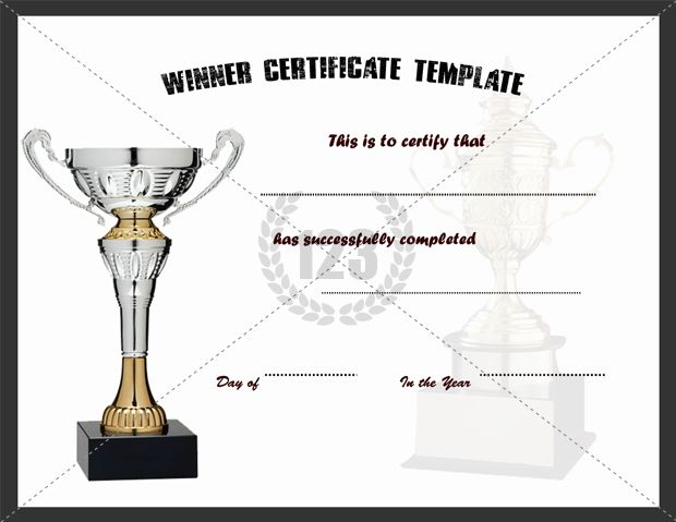 Award With Best Winner Certificate Template