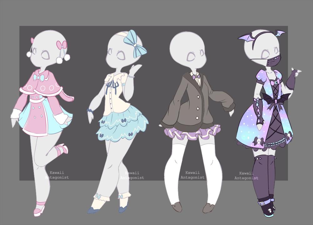 Drawn Dress Kawaii Clothes 6 1000 X 719 Dumielauxepices Net Drawing Anime Clothes Drawing Clothes Anime Outfits