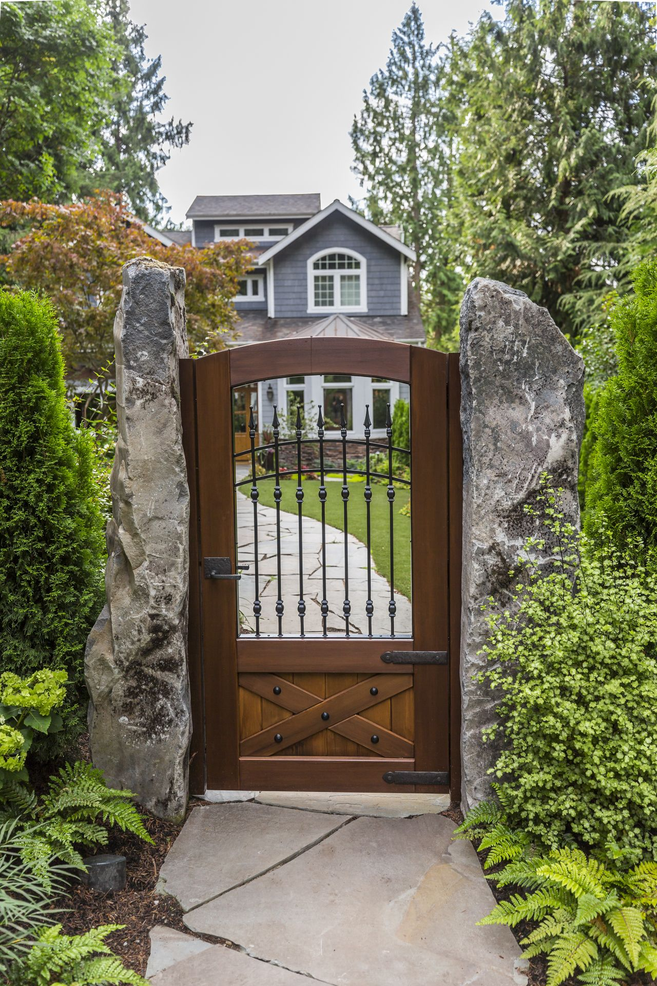 The perfect mix of wood and metal. Customize this gate to ...