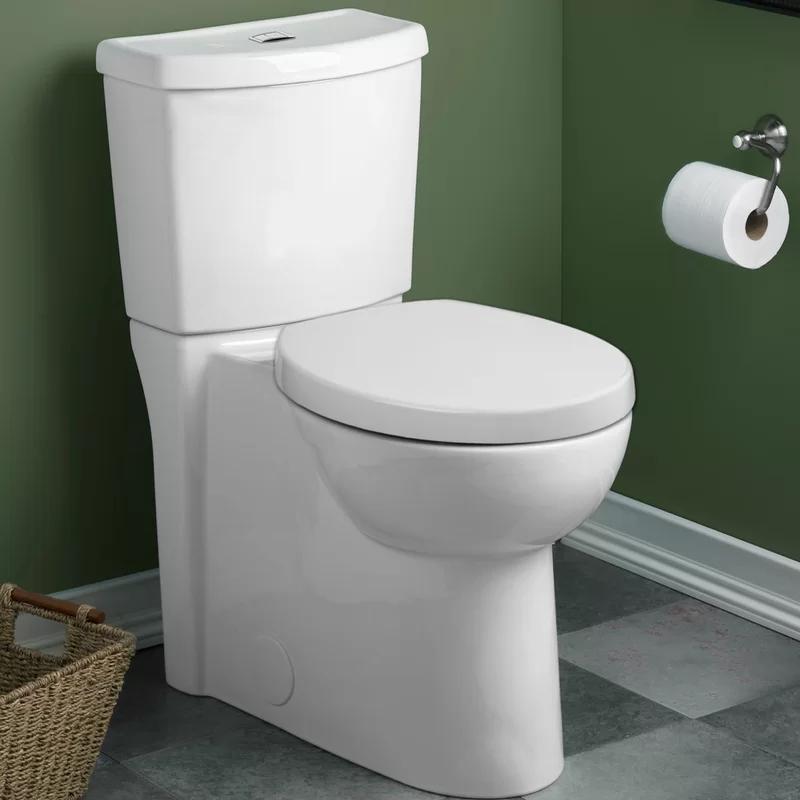 Studio Dual Flush Round Two Piece Toilet Seat Included Toilet Dual Flush Toilet Toilet Tank