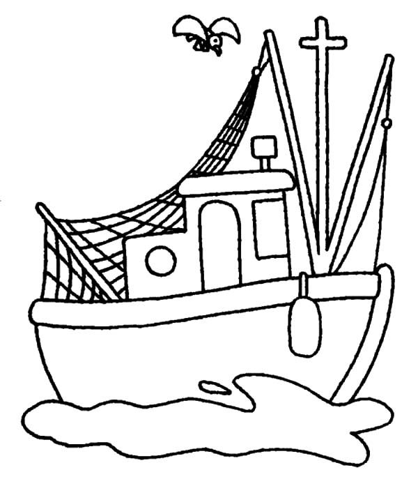 Fishing Boat, : Traditional Fishing Boat Coloring Pages | For use ...
