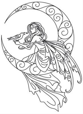 Coloring Pages Of Fairies For Adults - Coloring Home | 399x292