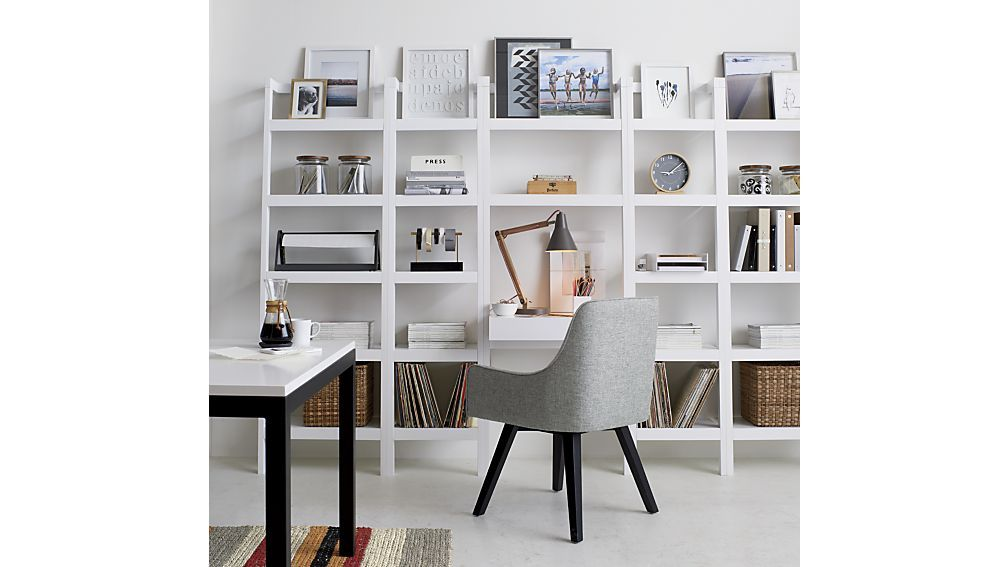 Sawyer White Leaning Desk Crate And Barrel Leaning Desk Home