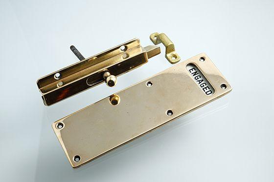 アンティーク 真鍮の表示錠 Engaged インダストリアル アパレル試着