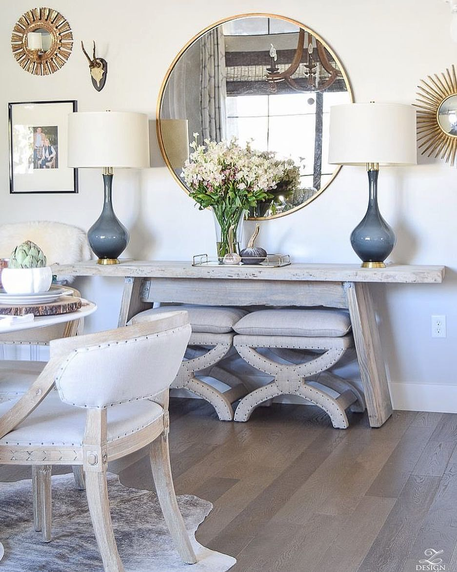 Casual Dining Room Buffet Decorating Ideas